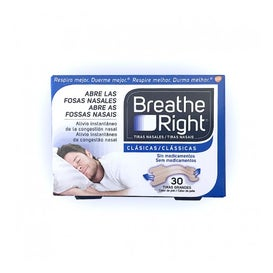 Breathe Right® tiras nasales color carne talla grande 30uds