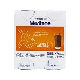 Chocolate Meritene Drink 125ml x 4 garrafas