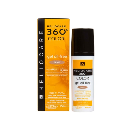 Heliocare 360° Color Gel Ölfrei Spf 50+ Beige 50ml