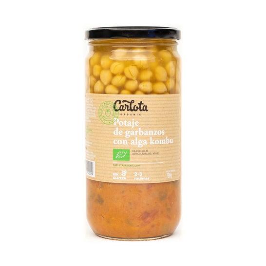 Carlota Organic Potaje de Garbanzos con Alga Kombu 720g