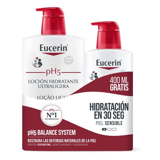 Eucerin® ph5 Ultra Light Moisturizing Lotion 1000ml + 400ml