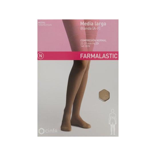Farmalastic medias largas blonda (A-F) compresión normal T-grande beige 1ud