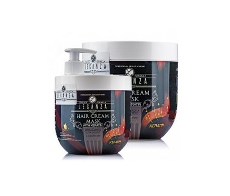 Leganza Cream Hair Mask Com Queratina 1000ml