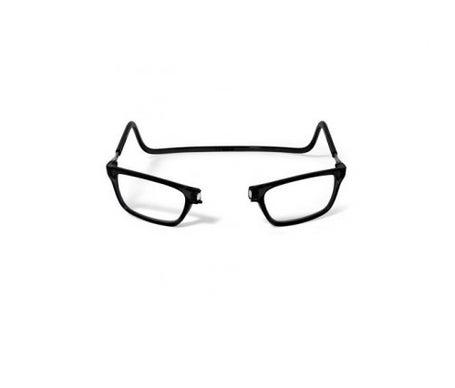 Acofarlens Imán Saturno Schwarz Brille mit vorderem Magnetverschluss, Alterssichtigkeit 2 Dioptrien 1 Stck.