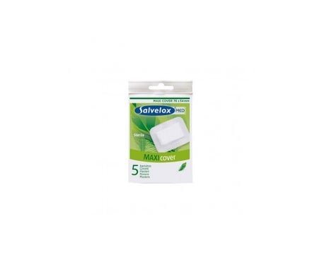 Salvelox Maxi Cover Sterile Dressings 76mmx54mm 5 uts