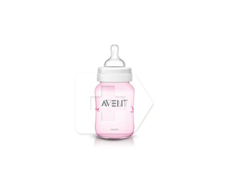 Avent Classic Pink Bird Pink 260ml bouteille de 260ml 1ud