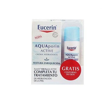 Eucerin ™ Aquaporin 40ml de textura ativa enriquecida + Eucerin ™ contorno de olhos 15ml