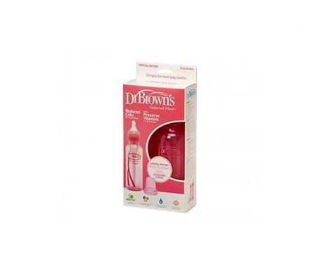 Dr Brown's biberón estándar pack rosa 250ml 2uds 2uds
