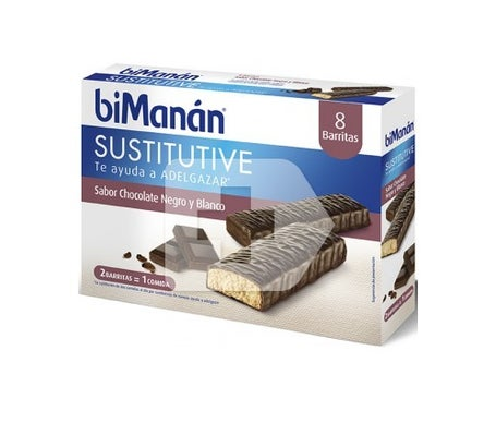biManán® Substitutive dark and white chocolate flavour 24 bars