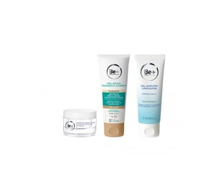 Be+ Gel crema antirughe 50ml + crema regolante 40ml + gel detergente 200ml