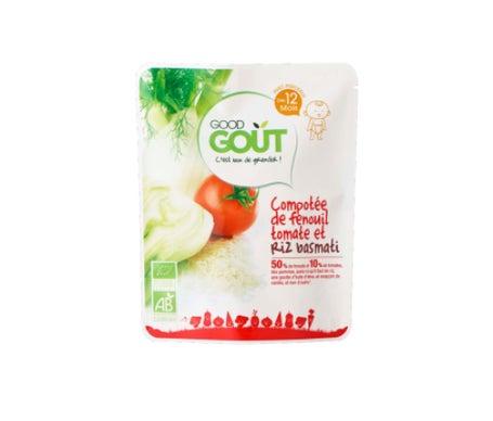 Good Goût Petit Plat Dès 12 Mois Bio Compotée de Fenouille Tomate avec Riz Basmati 220g