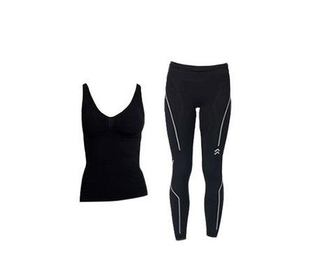 Anaissa T-shirt riduttore e legging push up nero T-L