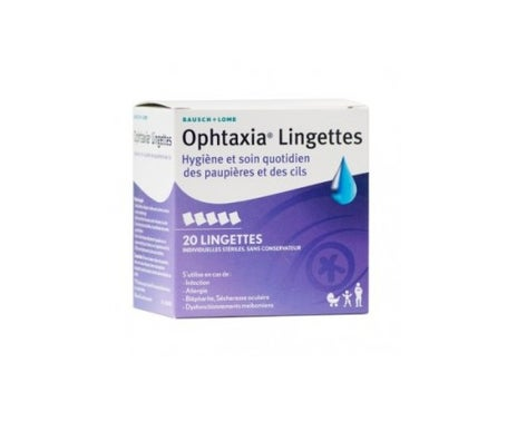 Caixa de Ophtaxia de 20 Striles Wipes