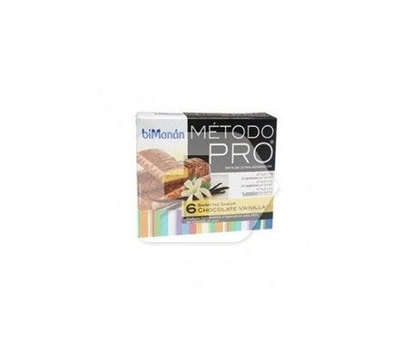 biManán™ Pro barritas chocolate baunilha 6 barritas
