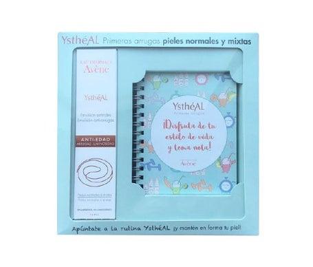 Avène Ystheal Pack Primeras Arrugas pieles normales y mixtas emulsión antiarrugas 30ml + cuaderno de notas y recetas de regalo