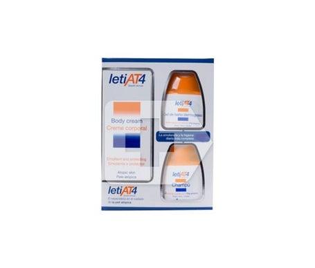 Leti AT4 crema corpo 200ml + gel da bagno 100ml + shampoo 100ml
