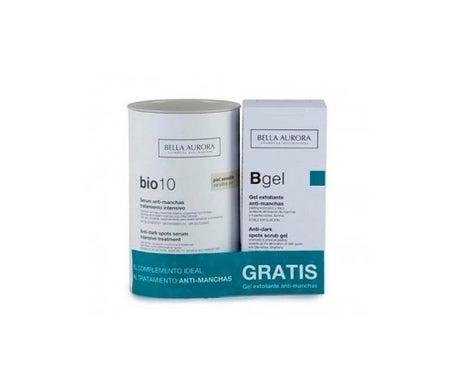 Bella Aurora Pack Bio 10 siero cutaneo sensibile alle macchie + gel esfoliante 75ml