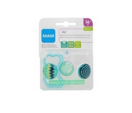 Silicone Soother Mam Night 16+ M 2 U +Sterilizer Box