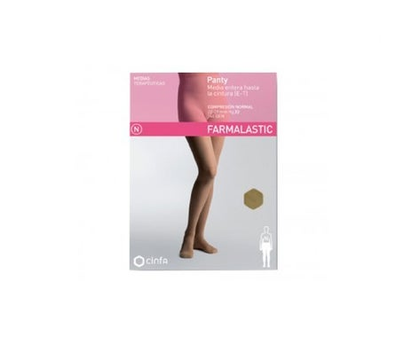 Farmalastic panty-hose to waist (E-T) normal compression T-medium camel 1ud