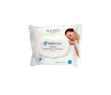 Aguayo Make-up Remover salviette + idratanti 20 pz