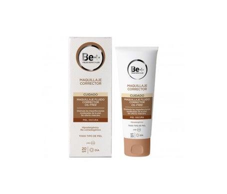 Be+ make-up fluido corrector oil free SPF30+ piel oscura 40ml