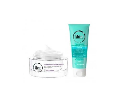 Be+ mattierendes Anti-Falten-Creme-Gel 50ml + Peeling-Maske 2 in 1 75g