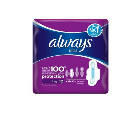 Sempre Ultra Longo Mais Toalhas Higiénicas 12 toalhas