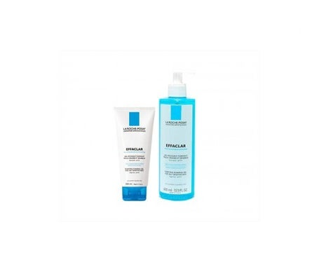 La Roche-Posay Effaclar gel purificante 400ml + Effaclar gel mousse 200ml