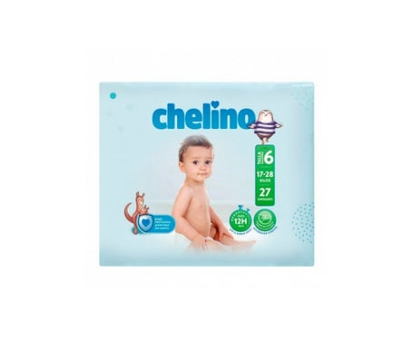 Chelino Fashion&Love pañales T6 17-28kg 27uds 27uds