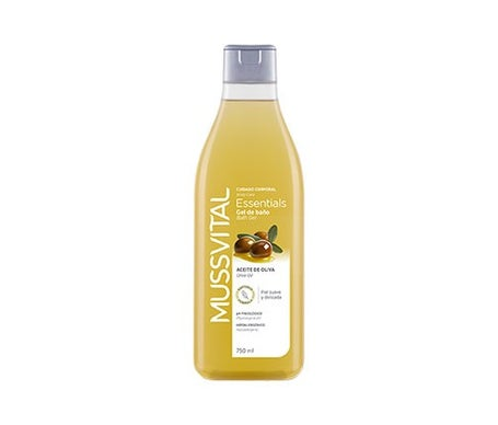 Gel da bagno all'olio d'oliva Mussvital Essentials 750 ml
