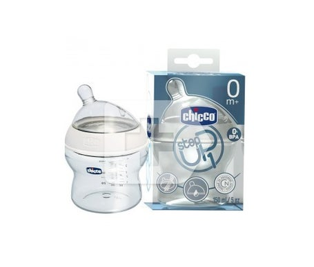 Chicco® biberón Step Up tetina silicona flujo normal +0M 150ml 1ud