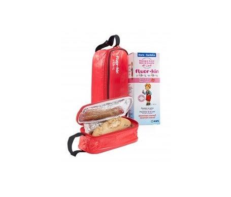 Fluor-Kin Infantil colutorio fresa 500ml + porta-bocadillos REGALO