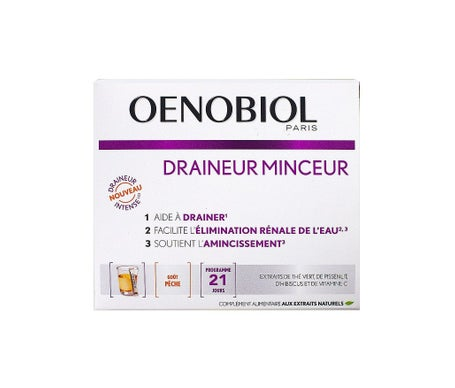 Oenobiol Draineur Minceur 21 Barritas Sabor Melocotón