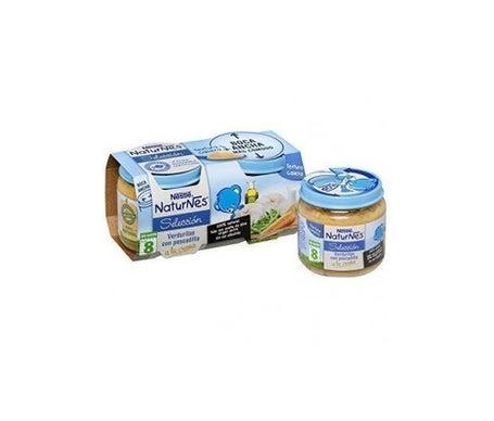 NaturNes crème de légumes et de merlan 200g+200g