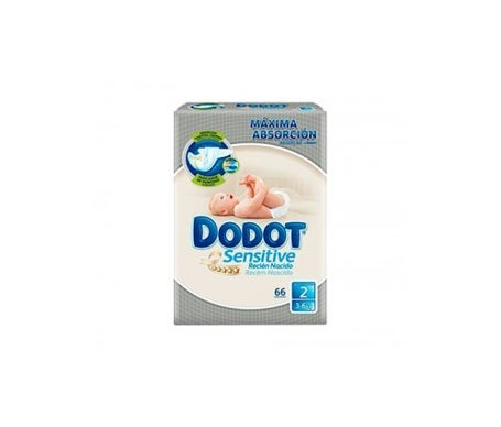 Dodot Sensitive T-2 3-6kg 66uds