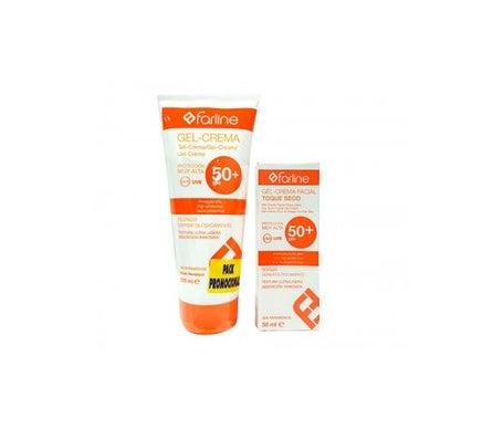 Farline Gel-crema corpo Spf50+ 200ml + Spf50+ viso 50ml