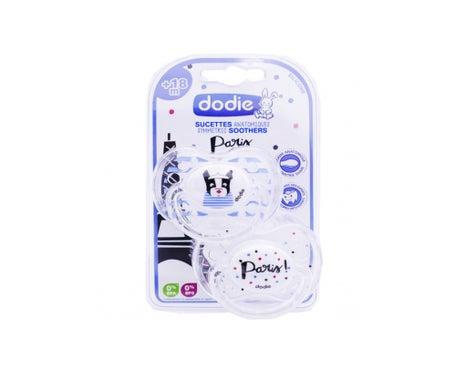 Dodie Sucette Silicone Paris Plus de 18 Mois A88 2uds