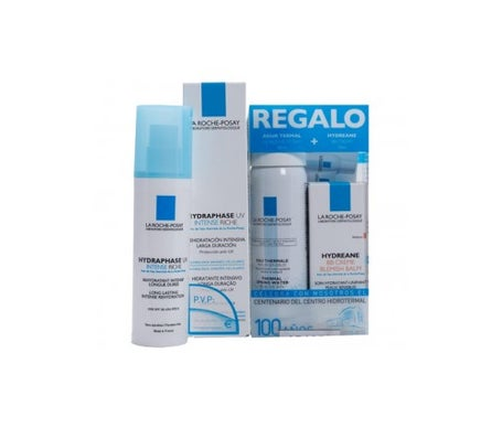 La Roche Posay Pack Hydraphase crema ricca intensiva 50ml + acqua termale 50ml + BB Crema 40ml