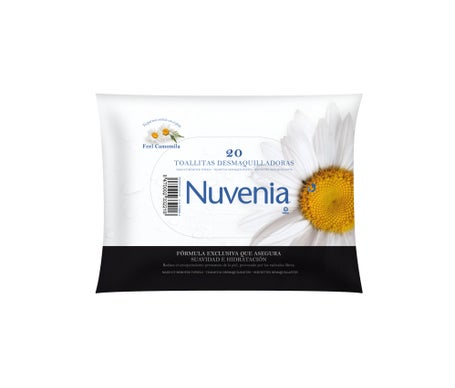 Indas Nuvenia make-up remover wipes 20 uts