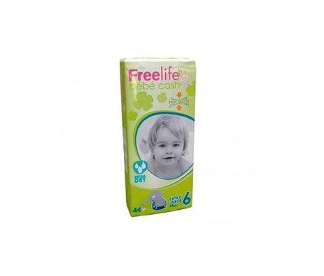Freelife Cash 6 fralda extra grande + 18kg 44uds