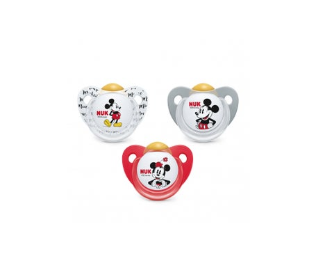 Nuk Chupete Mickey Mouse 18-36 Látex 1 Ud