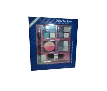 Markwins Color Workshop Glam Girl Palette 12 Eye Shadow + Bl