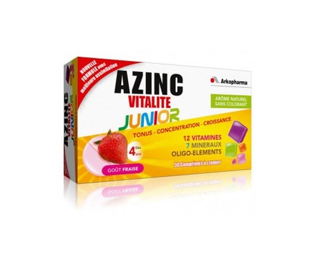 Arkopharma Azinc Optimal Junior Tablets - Crunch Got Strawberry Botella de 30