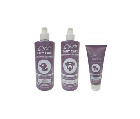 E'lifexir Pack Baby Pflege Körpermilch + Shampoo-Gel + Windelcreme