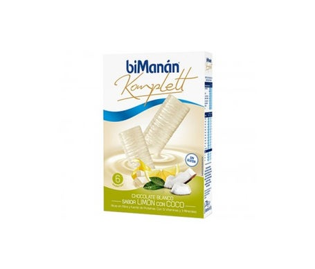 biManán™ Komplett white chocolate lemon coconut flavour 6 uts