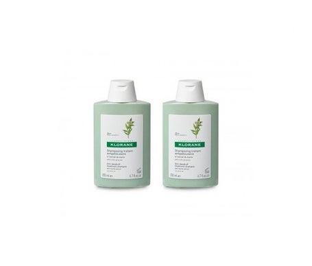 Klorane champú anticaspa extracto de mirto 200ml+200ml