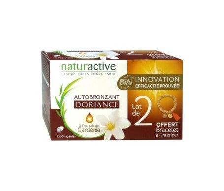 Naturactive Doriance cápsulas autobronceadoras Gardnia 30 unidades juego de 2 +1 pulsera Disponible