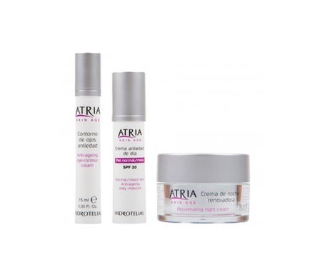 Pack Hidrotelial Atria anti-ageing cream 50ml + night cream 50ml + anti-ageing eye contour 15ml