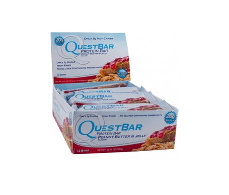 Quest Nutrition QuestBar peanut butter and jam flavoured bar 12uts