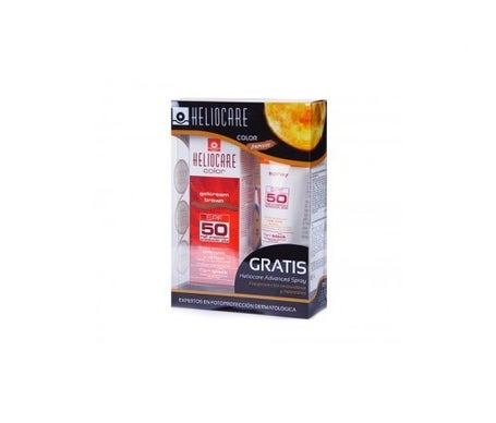 Heliocare Color LSF 50+ braunes Cremegel 50ml + Advanced LSF 50+ Spray 75ml